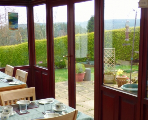 Greenacre Breakfast room in the conservatory